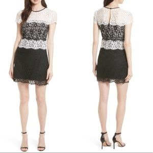 Milly Gabrielle Color-Blocked Lace Dress Sz 8